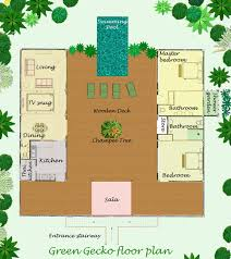 house plans green floor plan and layout of this thai villa for rent