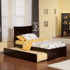 Espresso Twin Bed With Trundle Kids Beds