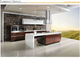 Wood Veneer For Kitchen Cabinets by Oppein Wood Veneer Acrylic Indian Kitchen Cabinets With Bespoke