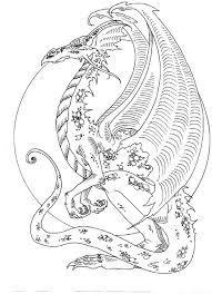 185 mythical dragon unicorn colouring images