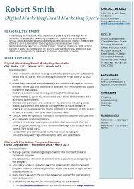 Digital Marketing Resume Sample by Digital Marketing Specialist Resume Example Contegri Com