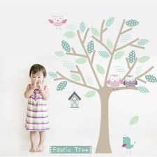 fabric tree wall sticker by littleprints notonthehighstreet com fabric tree wall sticker