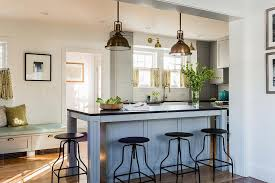 Antique Kitchen Island Lighting Antique Brass Island Pendants Transitional Kitchen