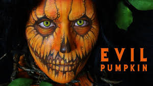 evil halloween makeup evil pumpkin halloween makeup tutorial 12 youtube