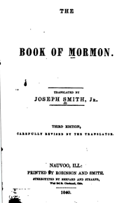 where in cincinnati was the third edition of the book of mormon