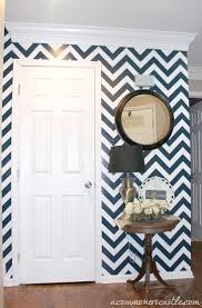 Navy Accent Wall by 25 Great Ways To Use Chevron Stripes