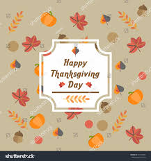 thanksgiving day card template stock vector 518195482