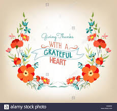 floral background thanksgiving greeting card with decorative
