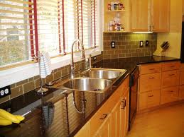 subway tile backsplash kitchen with caesar stone countertop