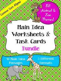 main idea bingo cards paragraph and activities