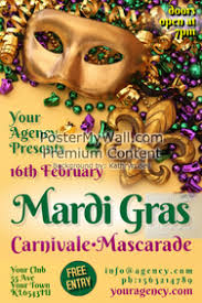 mardi gras by the mardi gras poster templates postermywall