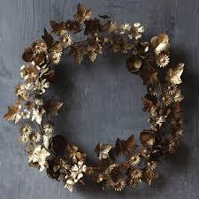 metal leaf wreath antique farmhouse