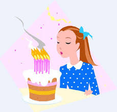 blowing out birthday candles clipart 25