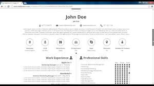 how to make an infographic resume how to make infographic cv realtime cv online tool youtube