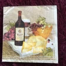aliexpress com buy napkin tissue vintage fruit grape wine cheese