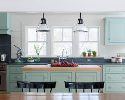 Green Kitchen Cabinets Blue Green Kitchen Cabinets Interiors By Color