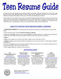best sample resumes cover letter sample teenage resume sample high school resume for cover letter how to make a resume teenager sample for bpo job teen successsample teenage resume