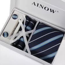 tie box gift men shirt ties neck tie set weddingties tie cufflinks
