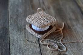crochet s more ornament whistle and