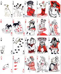 pack of dogs playing cards playing cards dog and 50th