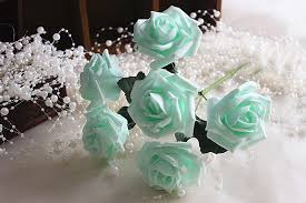 flowers for wedding mint wedding flowers artificial roses mint green flowers for