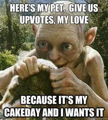 Smeagol Memes - cakeday smeagol memes quickmeme