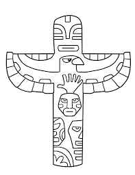 totem pole animals coloring pages coloring pages