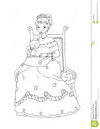 princess with cat coloring page stock photos image 9549023