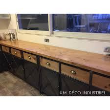 cuisine bois acier cuisine de style industriel acier et bois massif m déco industriel