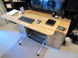 Height Of A Computer Desk Sit Stand Adjustable Height Computer Desk Simplified Building