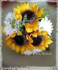 sunflower corsage reserved for juliebee607 silk sunflower gerber wrist corsage