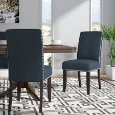 Upholstered Parsons Dining Room Chairs Upholstered Kitchen Dining Chairs You Ll Wayfair