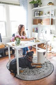 Home Office Decorating Ideas On A Budget A Chic Santa Cruz Office Space Designed On A Budget The Everygirl