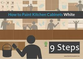How To Antique Paint Kitchen Cabinets How To Paint Kitchen Cabinets White Diy Tutorial