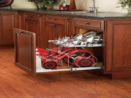 Kitchen Storage Ideas For Pots And Pans by Kitchen Pot Organizer Pot And Pan Storage Cabinet Lowe U0027s Pots And