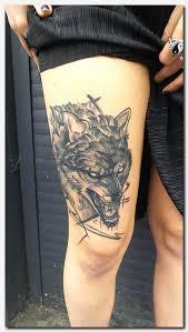 wolftattoo floral tattoos tattoos on rib cage