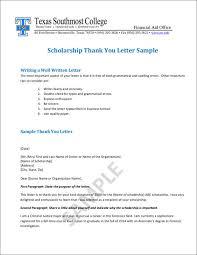 guidelines for thank you letters