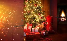 christmas tree snow wallpaper christmas lights decoration