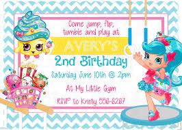 caillou birthday invitations gymnastics shopkins jessicake inspired cute birthday party