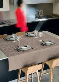 Coffee Table Linens by Le Jacquard Francais Ellipse Enduite Acrylic Coated Table Linens