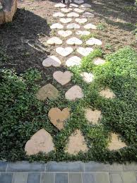 Garden Stone Ideas by Heart Shaped Stepping Stones To The Potting Shed I Love This