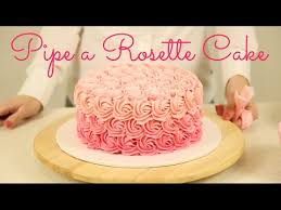 cake trend decorate an ombré rosette cake cake style youtube