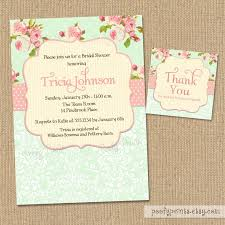 shabby chic bridal shower invitations stephenanuno com