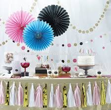 paper fans decorations pink hanging tissue paper fans diy backdrop tissue paper fans baby