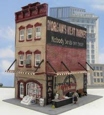 3 story downtown building model train structures by d a clayton