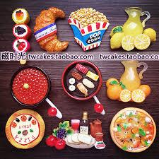aimant cuisine cuisine créative pizza sushi popcorn popsicle réfrigérateur