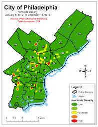 Philadelphia Neighborhood Map Murder By Numbers Homicide In 2012