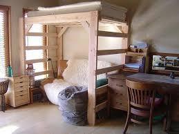 kids bedroom diy building loft bed design with wood material