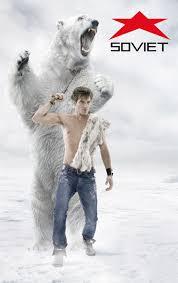 soviet jeans print advert by promoplan polar bear guy ads of