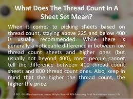 Picking Sheet What Does The Thread Count In A Sheet Set Mean